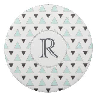 Blau-und Holzkohlen-Dreieck-Muster Radiergummis 0