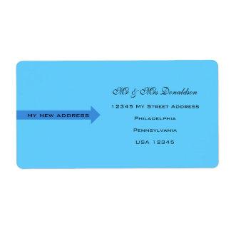 Blau und klar großer adressaufkleber