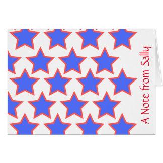 Blau-und Rot-Sterne Karte