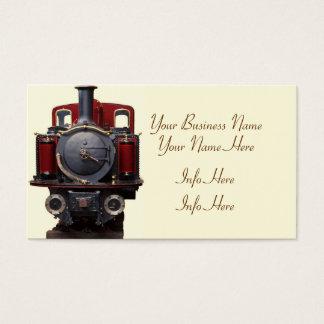 Blau und roter Zug Visitenkarte