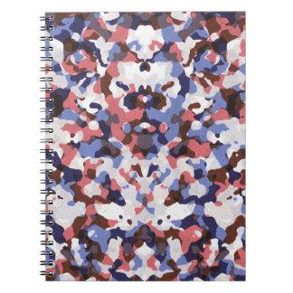 Blau und rotes Tarnungsmuster Notizblock