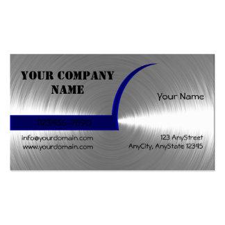 Blau und Silber gebürstete MetallVisitenkarte