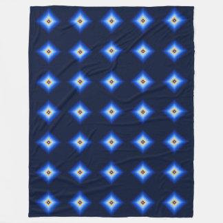 Blau und TAN-Diamant Fleecedecke