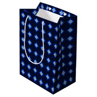 Blau und TAN-Diamant Mittlere Geschenktüte