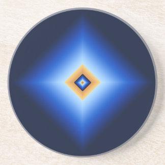 Blau und TAN-Diamant Sandstein Untersetzer