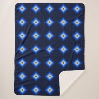 Blau und TAN-Diamant Sherpadecke