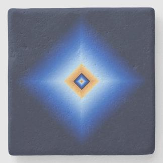 Blau und TAN-Diamant Steinuntersetzer