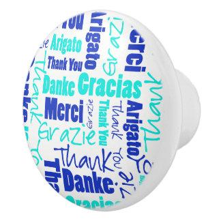 Blau und Türkis danken Ihnen, Wolke abzufassen Keramikknauf