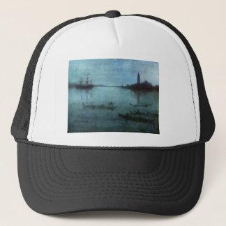 Blau und versilbern Sie die Lagune Venedig Truckerkappe