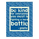 Blau und Weiß seien Sie nettes Zitat Postkarten