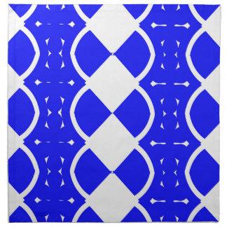 Blau und Weiß spinnt Stoffserviette