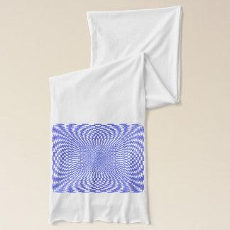 Blau und Weiß verzerrtes kariertes Muster Schal