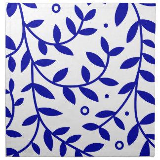 Blau verlässt Stoff-Serviette Serviette