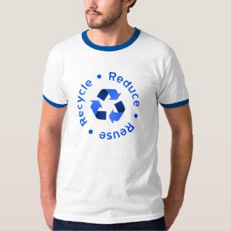 Blau verringert Wiederverwendung recycelt T - T Shirt