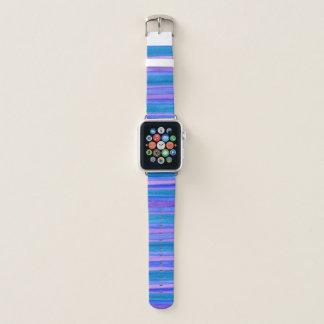 Blau, violett, malte Türkis Streifen Apple Watch Armband