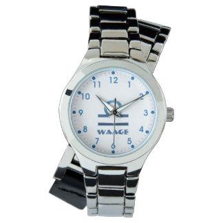 Blau Waage Waage-Tierkreis Armbanduhr