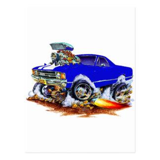 Blau-Weißer LKW 1971-72 EL Camino Monster-4x4 Postkarte