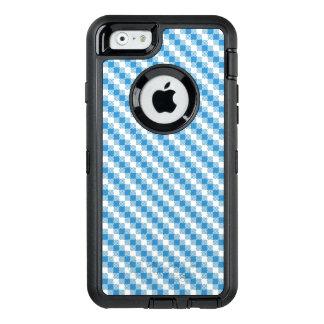 Blau-weißer Quadrathintergrund OtterBox iPhone 6/6s Hülle