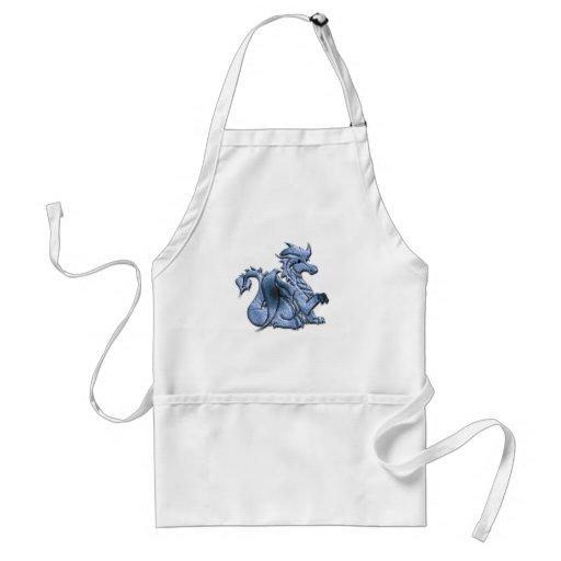 Blau Winged Drache-Schürze