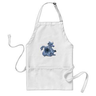 Blau Winged Drache-Schürze Schürze