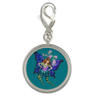 Blau Winged Elf Charm