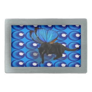 Blau winged Glasperle-Gürtelschnalle des Kätzchens Rechteckige Gürtelschnalle