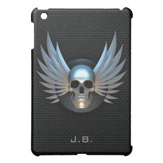Blau Winged Schädel iPad Mini Hülle