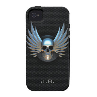 Blau Winged Schädel iPhone 4 Fall iPhone 4/4S Cover