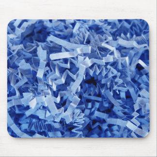 Blau zerrissenes gekrümmtes Papier Mousepad