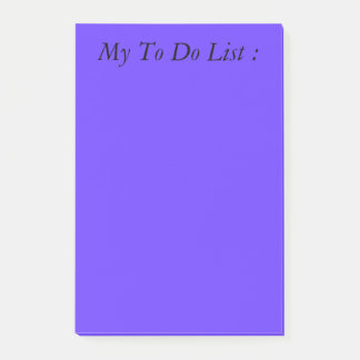 Blau, zum von Listen-Post-It zu tun Post-it Klebezettel