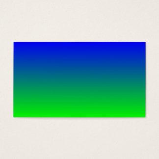 Blau zur Limonen grünen Steigung Visitenkarte