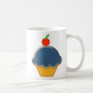 Blaubeer-und Kirschkuchen-Kunst Kaffeetasse