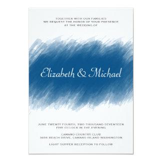 BlaubeerAquarell-Hochzeits-Einladung Karte