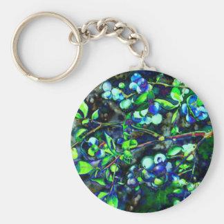 Blaubeere - grüne Farbe Schlüsselanhänger