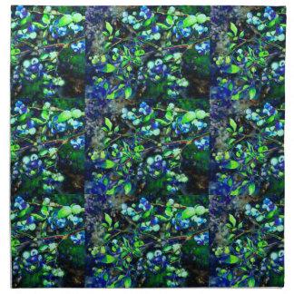 Blaubeere - grüne Farbe Serviette