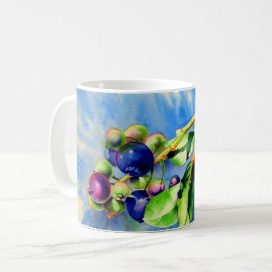 Blaubeeren Kaffeetasse