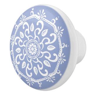 BlaubeerMandala Keramikknauf