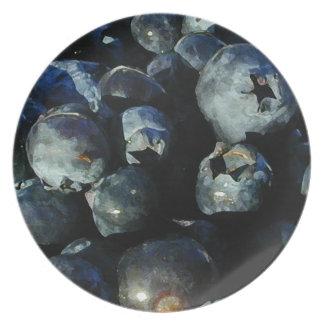 Blaubeermelaminplatte Teller