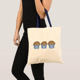 Blaubeermuffin-blaue Frühstücksnahrung-Bäckerei Tragetasche