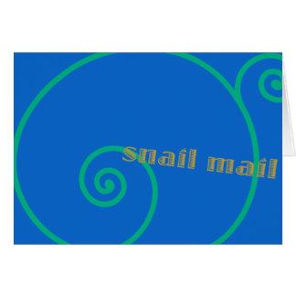 Blaubeersnail mail karte