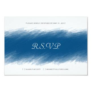 Blaubeerwatercolor-Hochzeit UAWG Karte