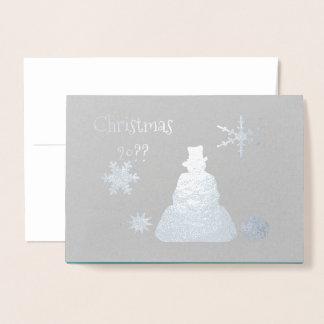 Blaubelag-Schneemann frohe Feiertage Folienkarte