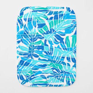 Blaue abstrakte Brandung Spucktuch