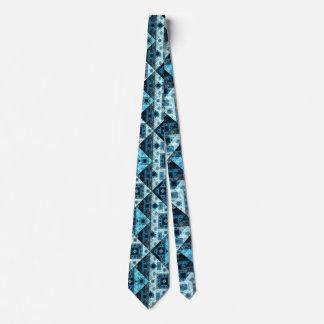 Blaue abstrakte geometrische Muster-Krawatte Krawatten