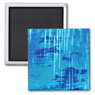 Blaue abstrakte Grafik Kühlschrankmagnet