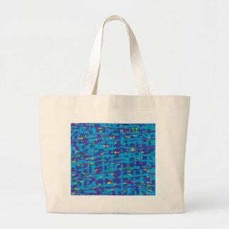 Blaue abstrakte Kunst Jumbo Stoffbeutel