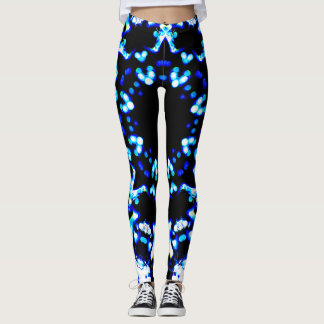 Blaue abstrakte Lichter Leggings