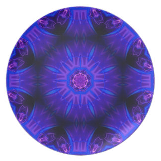 Blaue abstrakte Melamin-Platte Teller