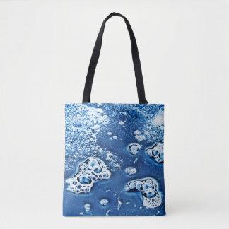 Blaue abstrakte tasche