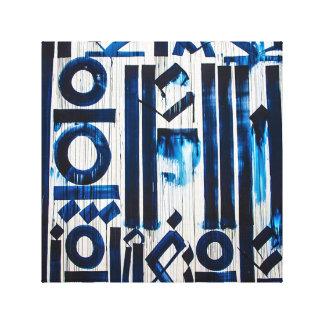 Blaue Abstraktions-Leinwand-Kunst Leinwanddruck